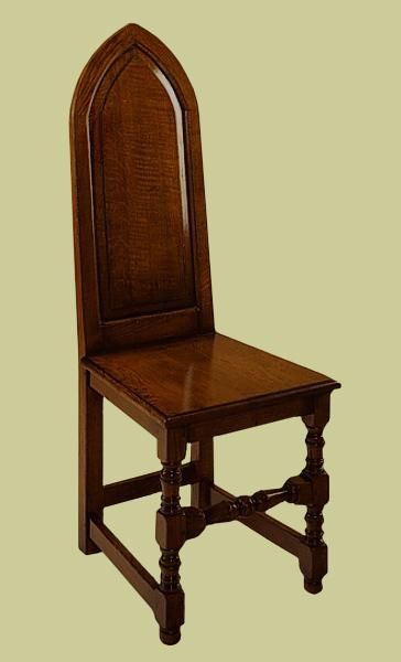 Oak Gothic Influence Chair