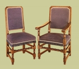 Joined chairs upholstered