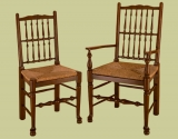 18th century style spindleback country chairs