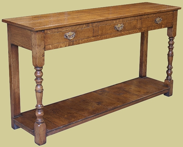 Period style oak hall table