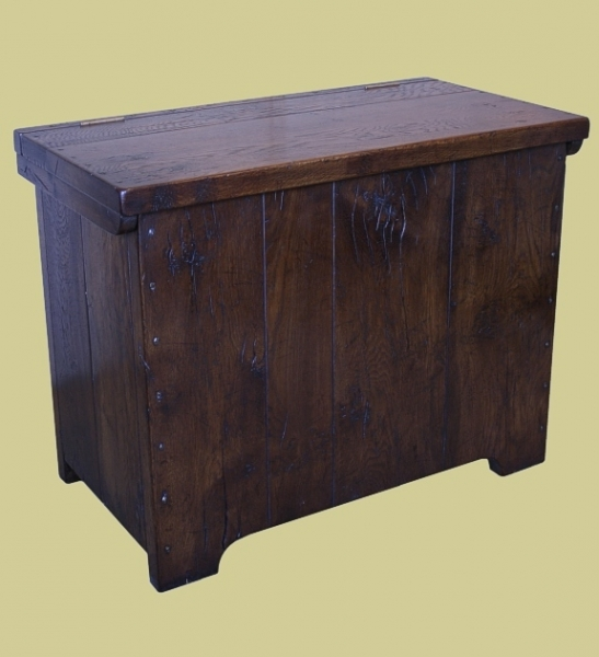 Medieval style oak chest