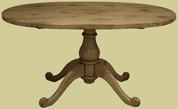 Small oval pedestal dining table