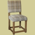Up. Stop Chamfered Oak Side Chair