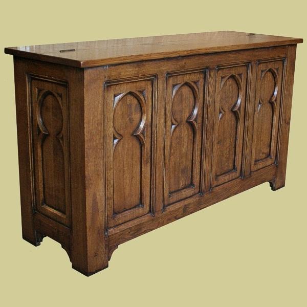 Gothic design TV chest
