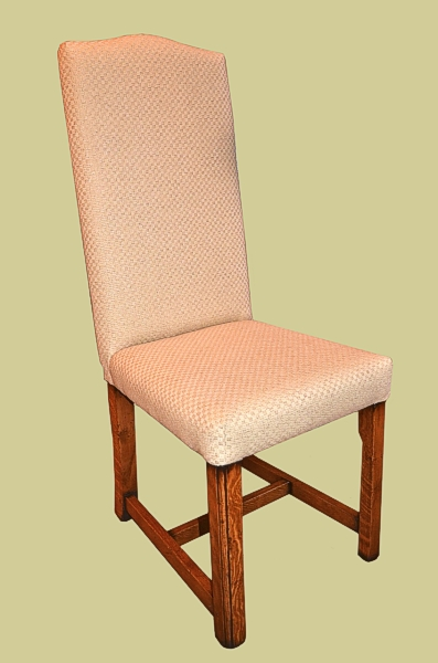 Bespoke Narrow Fully Upholstered Side Chair