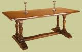 Twin Pedestal Dining Table Oak 1