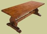 Trestle dining table elm