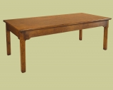 Oak extending dining table french style