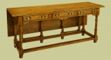 Dresser table burr elm single flap