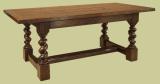 Oak barley twist refectory table