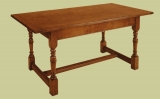 Light form refectory oak dining table