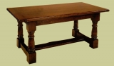 Refectory table oak with doric column legs