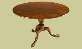 Circular oak pedestal dining table handmade
