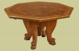 Centre table Italian design in walnut