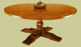 Round dining table elm