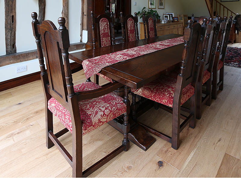 Berwick semi-bespoke reproduction dining table and chairs package