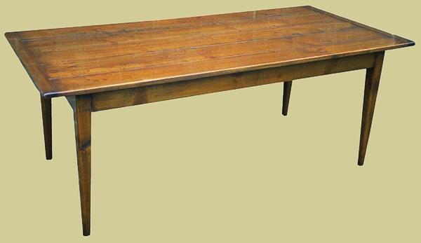 Tapered Leg Table Handmade Fruitwood Bespoke Dining Furniture