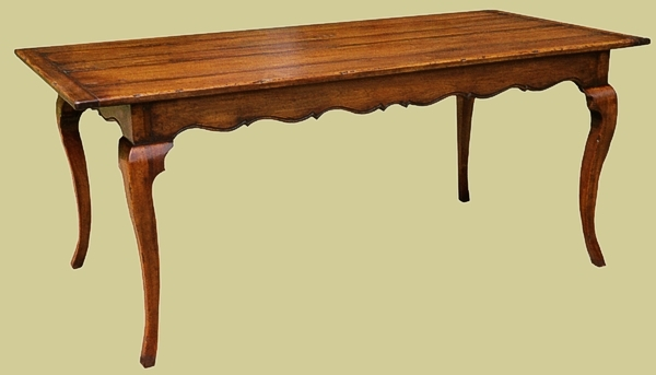 Cherrywood Cab. Leg Country Style Table
