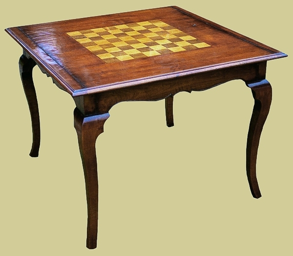 Fruitwood Cabriole Leg Games Board Table