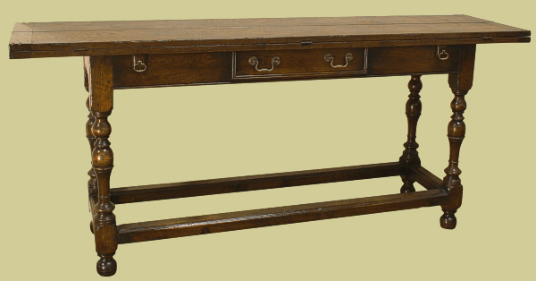 Folding Hunt Table Oak With Drawer