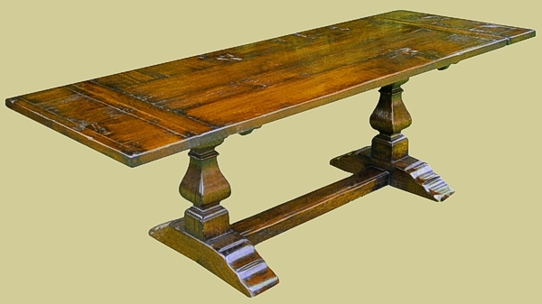 Square Cut Baluster Extending Table