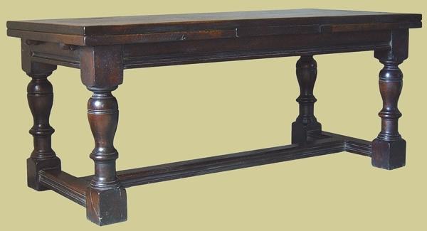 Oak Baluster Extending Table
