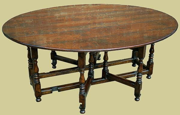 Gateleg table handmade oak
