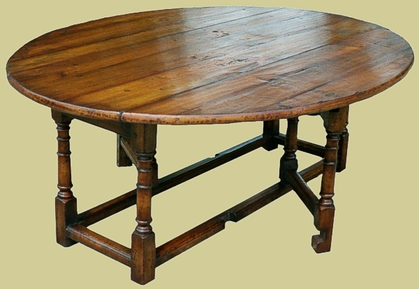 Gateleg dining table cherry single gate