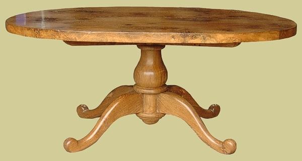 Oval Pedestal Table Oak