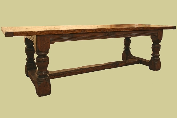 Bespoke heavy oak refectory table