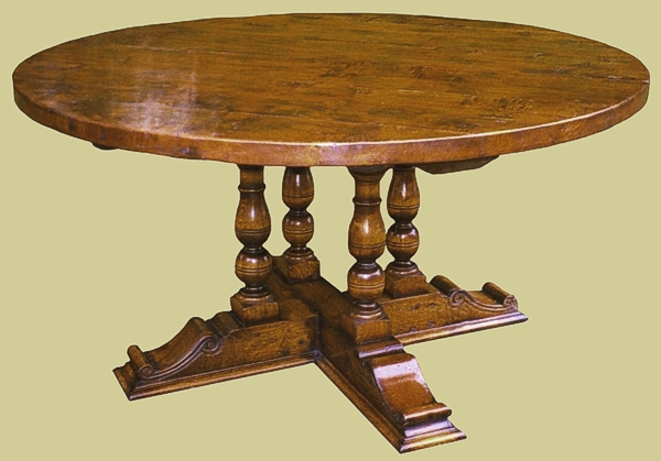Round Dining Table Solid Oak 4 Seater 6 Seater 8 Seater