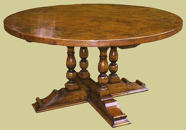 Round and oval dining tables handmade bespoke oak dining for 12 seater oval dining table