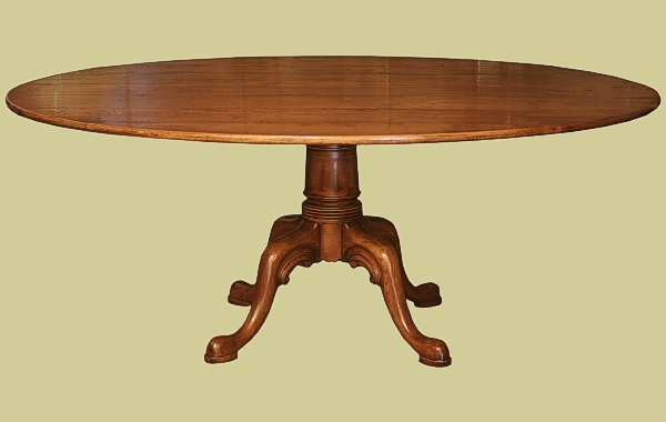 Oval Dining Table Fruitwood