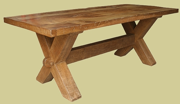 Trestle Tables Solid Oak Handmade in England  : 460 1ex from www.earlyoakreproductions.co.uk size 600 x 349 jpeg 87kB