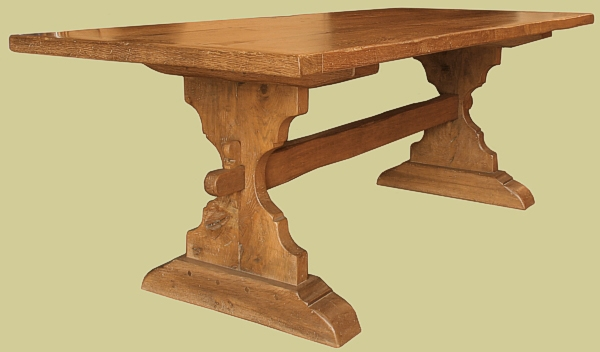 Trestle Table Bespole Handmade Solid Oak Medieval  : 461 1 from www.earlyoakreproductions.co.uk size 600 x 352 jpeg 83kB
