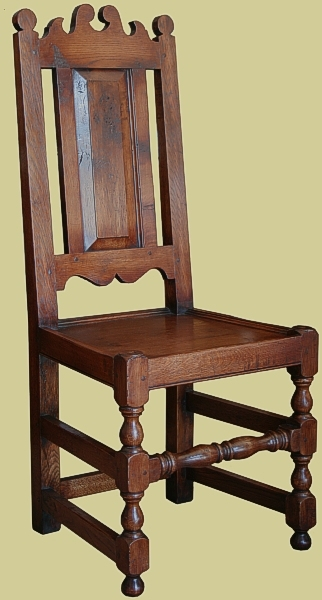 Oak solid seat panel back chair