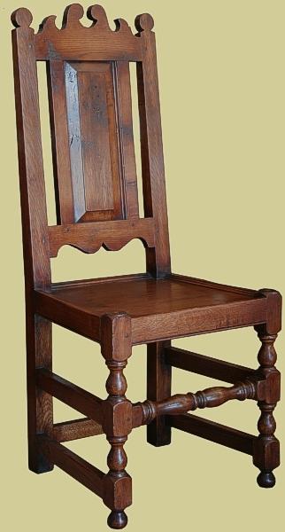Oak Up. Seat, Panel Back Side Chair