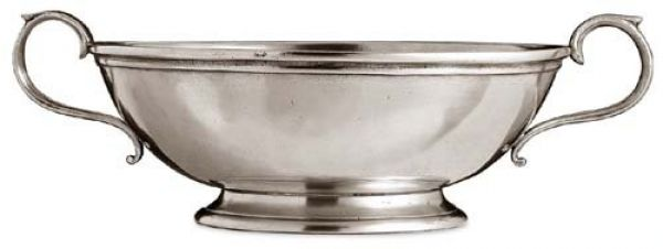 Oval Pewter Low Footed Bowl CT1068