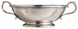 Trad. Oval Pewter Low Footed Bowl CT1068