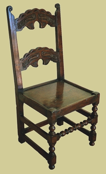 Oak South Yorkshire Style Side Chair