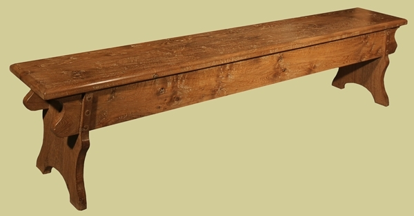 Oak Medieval Style Bench