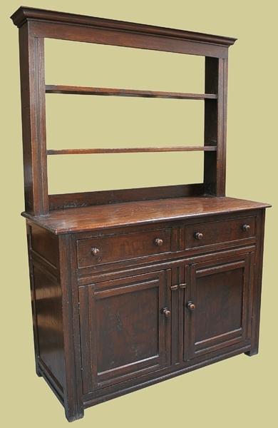 2-Drawer Dresser Open Rack Oak