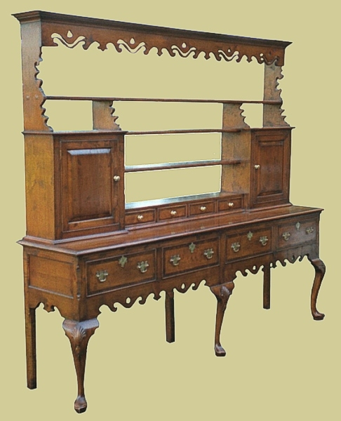Country dresser with open rack