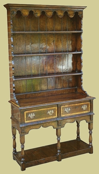 Small Oak Dresser 2 Drawer Potboard Base