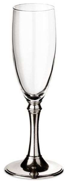 Pewter Champagne Glass Italian Pewter Traditional
