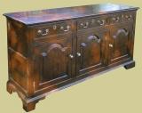 Oak 3 Drawer Dresser Base