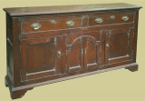 2 Drawer Dresser Base Oak