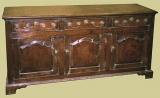 3 Drawer Dresser Base Oak