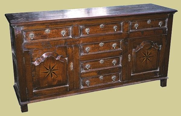 Oak 6 Drawer Dresser