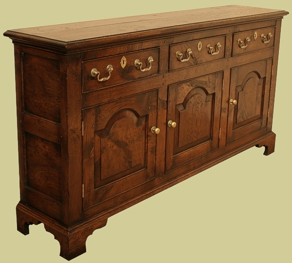 Oak Sideboard Dresser Slim Depth